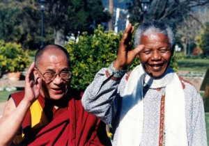 Mahatma Gandhi y Nelson Mandela